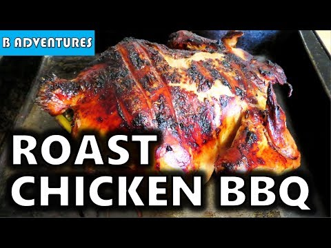 Roast Chicken on BBQ Grill