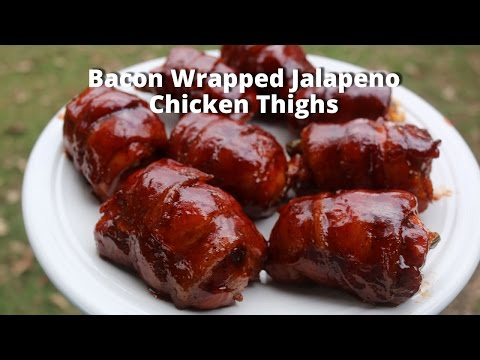 Bacon Wrapped Jalapeno Chicken Thighs
